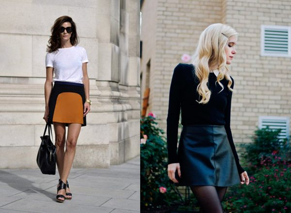How to wear an A-line Mini Skirt