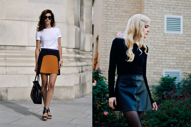 How to wear an A-line Mini Skirt