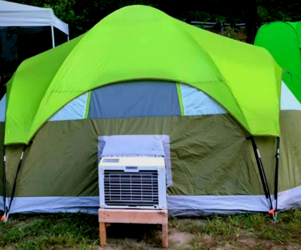Camping Tents with Air Conditioning Ports